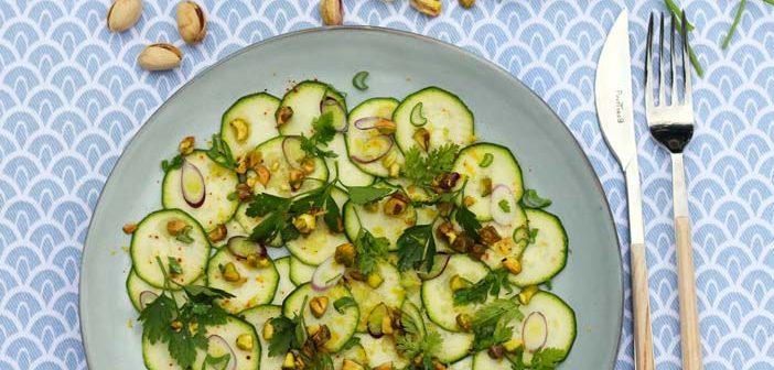 recette sans cuisson de carpaccio de courgettes