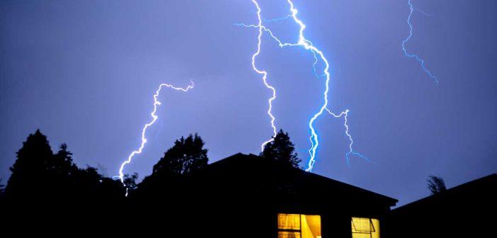 coupures d'électricité pendant les orages
