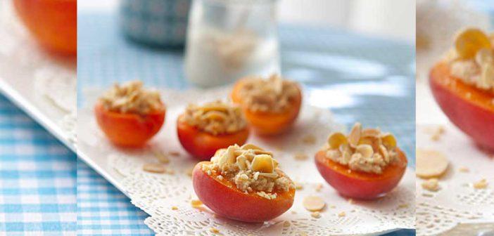 Recette sans cuisson : Abricots farcis amandine